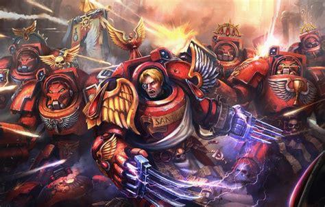 wallpaper soldiers armor warriors space marine