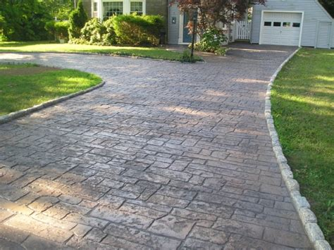 concrete driveway design ideas sted concrete driveways ideas best sted concrete vs pavers landscaping pavers