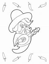 Chili Pepper Coloring Cartoon Printable Peppers Museprintables Colouring Clip Cook sketch template
