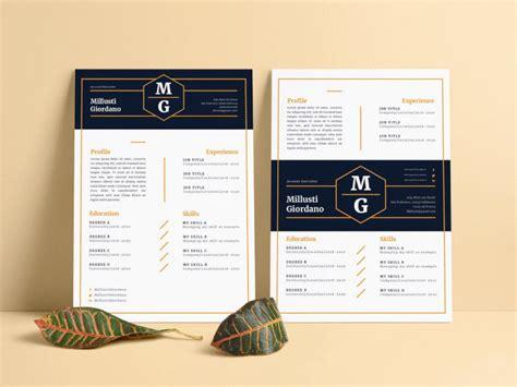 minimalist hexagonal resume cv by millusti on dribbble