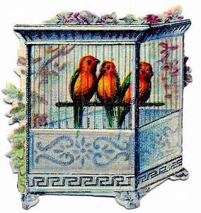 Victorian Clip Art - Birds in Pretty Cage | Print..., The ...