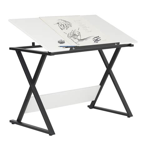 axiom student drawing table  tilting top charcoal