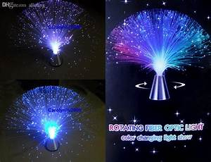 2018 Wholesale Auto Rotating Color Changing Fiber Optic