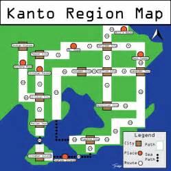 Pokemon Labeled Kanto Map