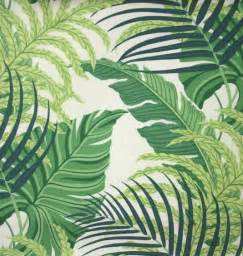 Sanderson Papier Peint Manila by Manila Fabric A Printed Fabric Featuring Overlapping Fern