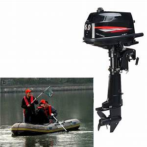 6 Hp 2 Stroke Outboard Motor Tiller Shaft Boat Engine
