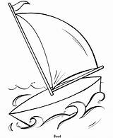 Coloring Pages Easy Sailboat Boat Shapes Simple Colouring Boats Shape Totoro Printable Drawing Objects Neighbor Line Truck Army Sail Clipart sketch template
