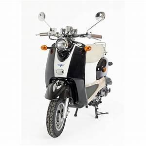 Scooter Neuf 50cc : scooter noir et blanc retro 50cc zn50qt a ~ Melissatoandfro.com Idées de Décoration