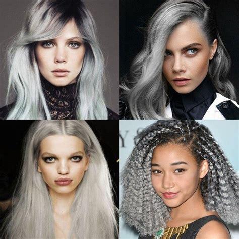 Top Hair Colors For 2016 Grey Hair Granny Hair Pastel