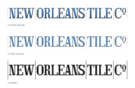 new orleans tile co identity cameron booth