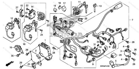 honda scooter 2011 oem parts diagram for wire harness partzilla