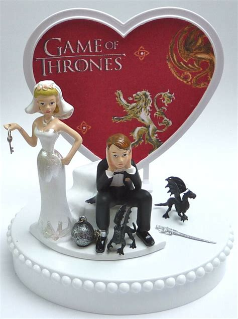 wedding cake topper game  thrones themed ball  chain