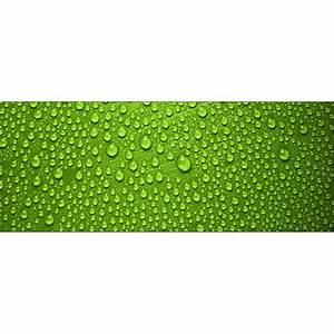 Fond De Lit : papier peint t te de lit gouttes sur fond vert art d co stickers ~ Teatrodelosmanantiales.com Idées de Décoration