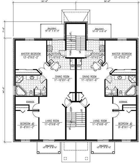 family floor plans six plex multi family house plan 90153pd architectural