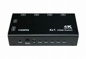 4x1 Hdmi Switch With Pip  4k  Remote Control