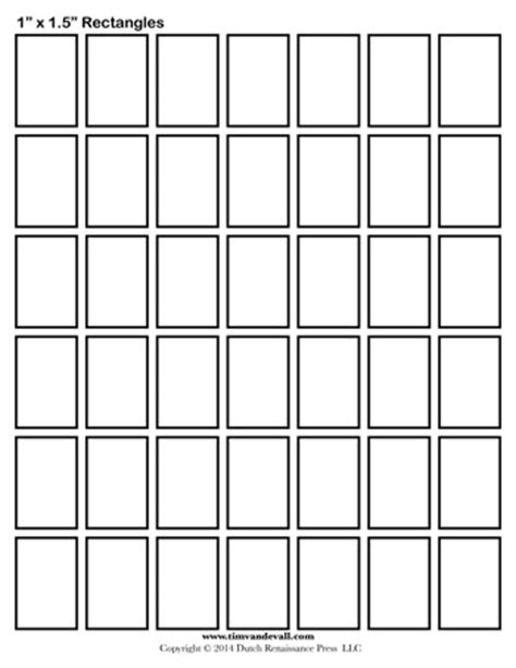 rectangle template rectangle templates 1 inch tim s printables