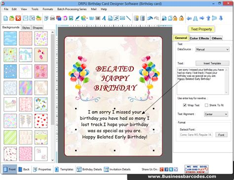 birthday cards designer software businessbarcodes