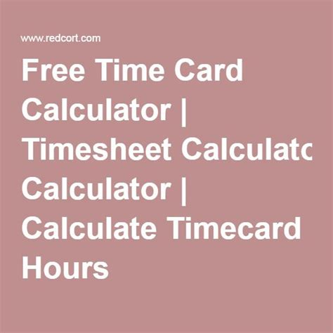 timecard hours free time card calculator timesheet calculator