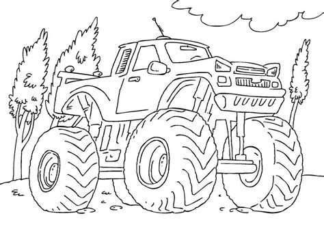 disegno da colorare monster truck cat