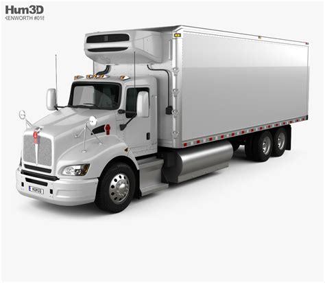 Truck Refrigerator by Kenworth T440 Refrigerator Truck 3 Axle 2009 3d Model