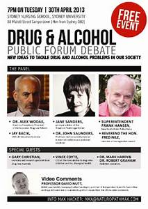 Drug and Alcohol Public Forum Debate – Sydney