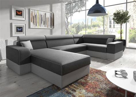 U Sofas by U Shaped Sofa With Chaise Longue And Pull Out Bed Milan