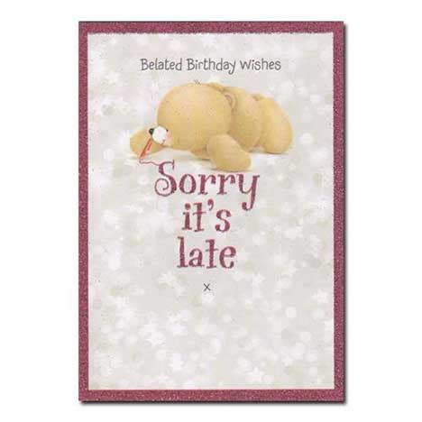 belated birthday wishes   late  friends card  friends official store