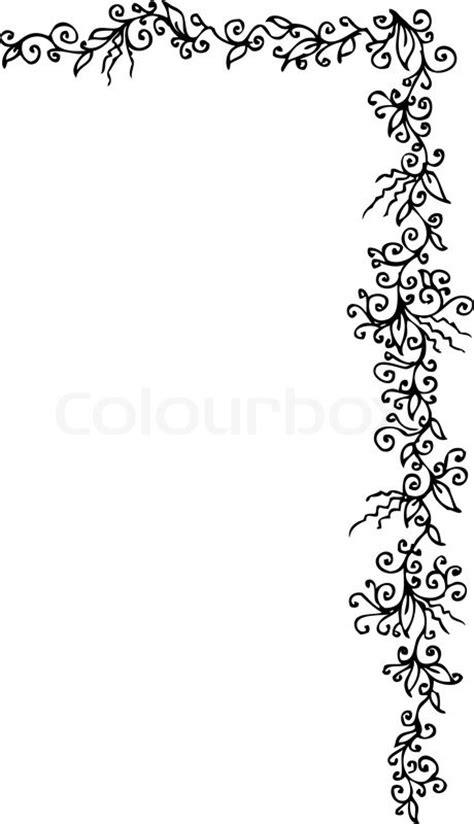 floralen ornament  eau forte schwarz weiss dekorativen