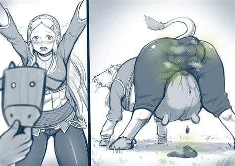 The Legend Of Zelda Apocalypse Cow Transformation Poop