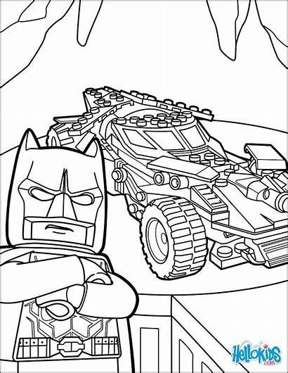 Batman Lego Coloring Batmobile Pages Drawing Bojanke