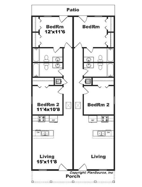 narrow lot duplex