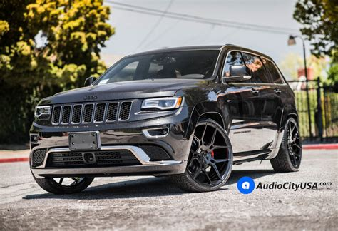 jeep cherokee black with black rims 24 quot giovanna wheels haleb gloss black rims 2016 jeep