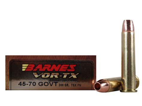 Barnes Vor-tx Ammo 45-70 Government 300 Grain Tsx Hollow