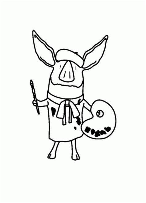 Olivia The Pig Coloring Page Coloring Home