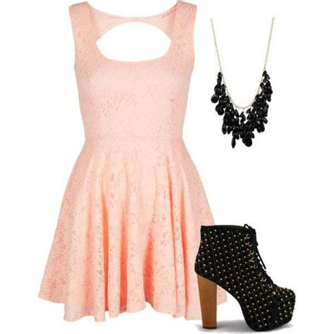 Spring Polyvore Outfits in Baby Pink - Pretty Designs