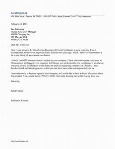 Event coordinator cover letter template for Cover letter for event coordinator position