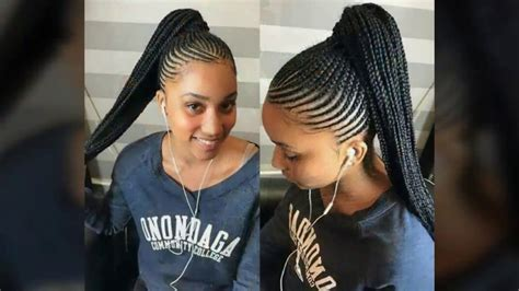 ponytail hairstyles cornrows braids