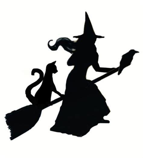 witch stencil  weathervane halloween silhouettes