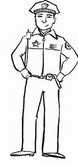Police Officer Coloring Pages Drawing Community Policeman Clipart Helpers Print Hat Preschool Helper Hats Printable Firefighter Sketch Drawings Printables Colouring sketch template