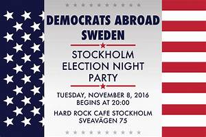 Stockholm Election Night Party - Democrats Abroad