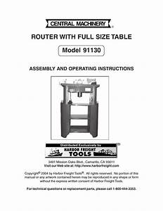 Harbor Freight Tools Router With Full Size Table 91130