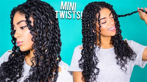 Curly Hairstyles With Twist by How To Mini Twists Curly Hair Jasmeannnn
