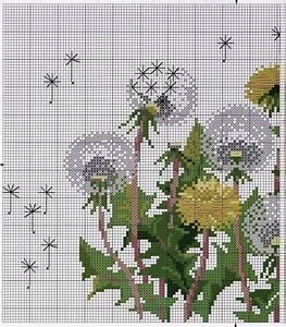 Free Cross stitch pattern Dandelions DIY 100 Ideas