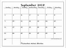 Calendar September 2018 77SS Michel Zbinden en