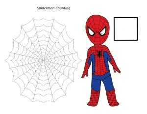 superheroes worksheets for kıds funnycrafts 645 | superheroes worksheets spiderman 300x232