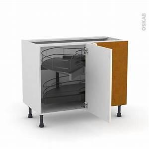 Meuble Angle Cuisine : meuble de cuisine angle bas filipen ivoire demi lune coulissant tirant droit 1 porte l50 cm ~ Teatrodelosmanantiales.com Idées de Décoration