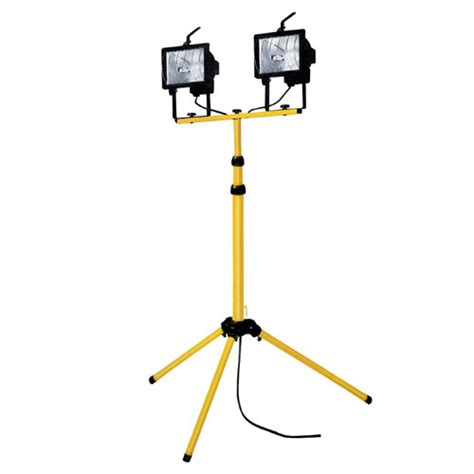 halogen l with stand 500w twin head telescopic halogen floodlight work site