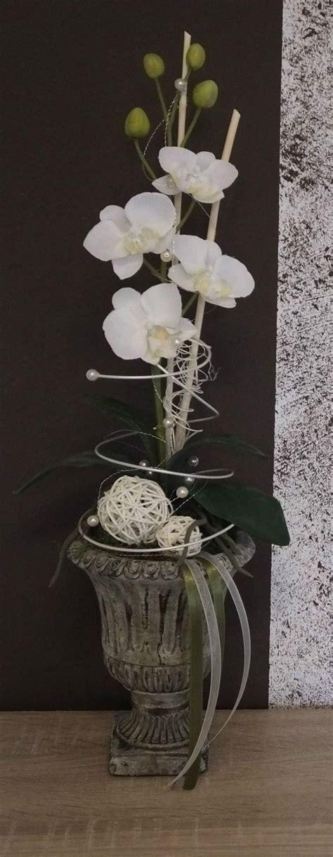 orchideengesteck gesteck  weiss ebay deko