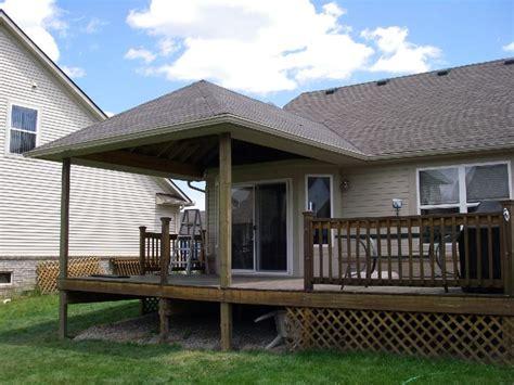 Build+aroof+over+a+deck+  Decks  Deck Roof Pinterest