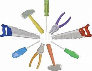 Werkzeug Hammer Typen : set vektor operativen werkzeuge h mmer s gen zangen schraubendreher vektorgrafik colourbox ~ Markanthonyermac.com Haus und Dekorationen